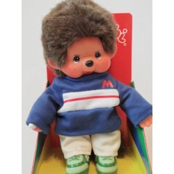 Maskotka małpka monchhichi granatowy chłopiec