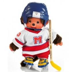Maskotka małpka monchhichi chłopiec hokeista