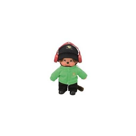 Ubranko dla małpki monchhichi chłopiec ze słuchawkami