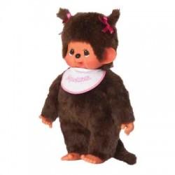 Maskotka małpka monchhichi dziewczynka z dwiema kitkami duża 45 cm